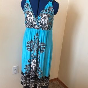 NWT Aqua summer dress with black and white designs